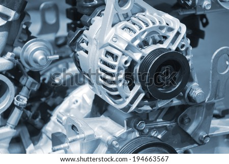 car parts motor - stock photo