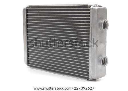 car radiator heater isolated on white background. car parts - stock photo