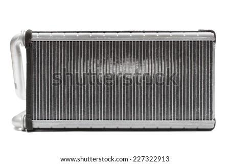 car radiator heater isolated on white background car parts - stock photo