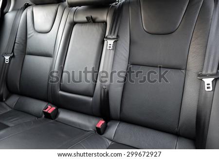 Car rear seats - stock photo