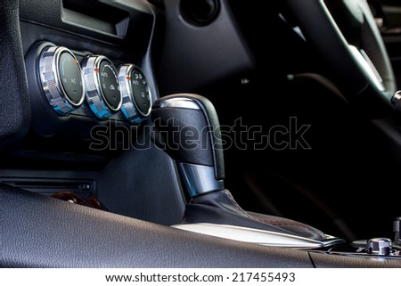 car's automatic gear shift  - stock photo