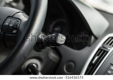 Car's interior in details, close up - stock photo