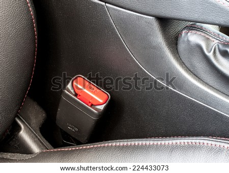 car seat belt socket - stock photo