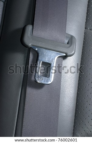 Car seatbelt - stock photo