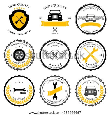 Car service. Auto parts. tools Icons set. illustration - stock photo