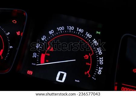 car speed board - stock photo