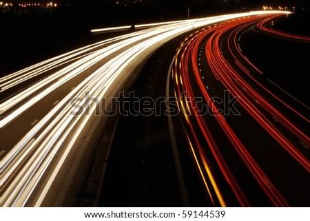 car speed in europe - stock photo