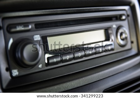 Car Stereo. - stock photo