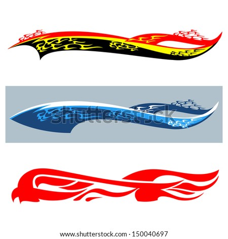 Car Flames Template Car Stickers Flame Stock
