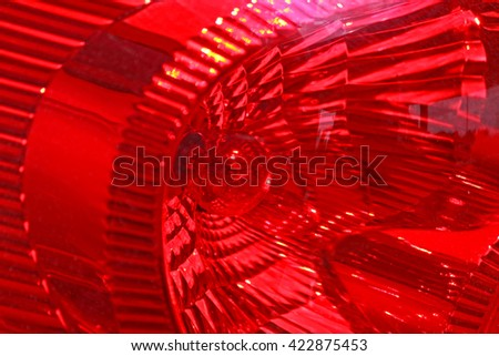 Car taillight - stock photo