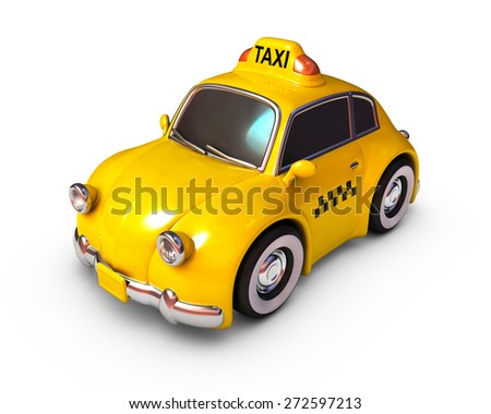 Car taxi on a white background. - stock photo