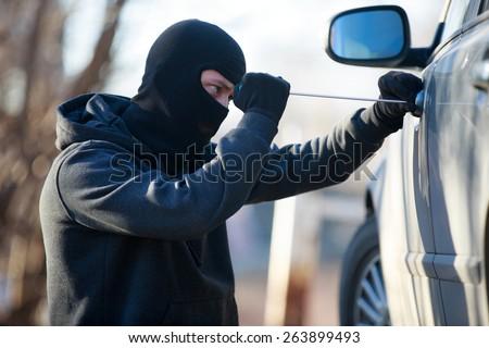 car thief - stock photo