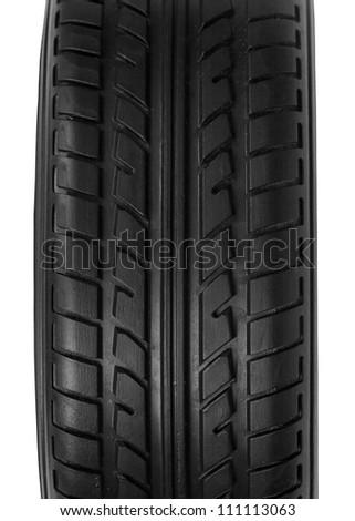 car tire, closeup - stock photo
