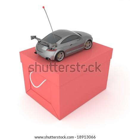 Car toy. - stock photo