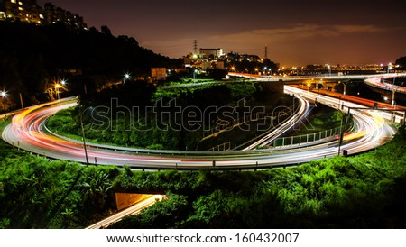 Car track in circle - stock photo