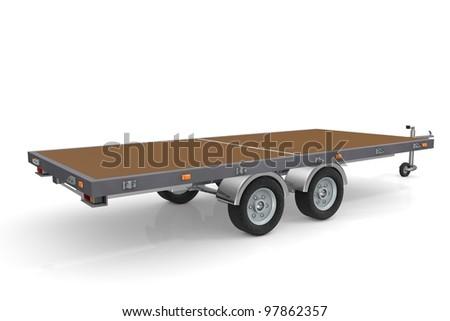 Car trailer - stock photo