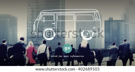 Car Transportation Traveling Vehicle Trip Concept - stock photo