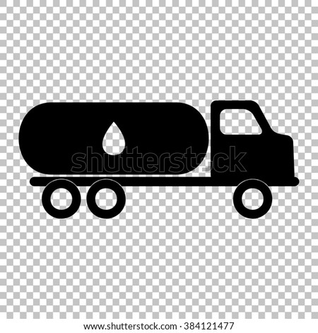Car transports Oil sign. Flat style icon on transparent background - stock photo