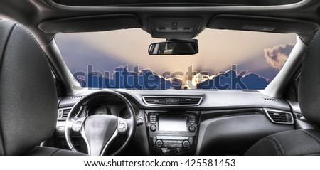 car travel - stock photo