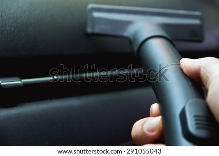 Car vacuuming - stock photo