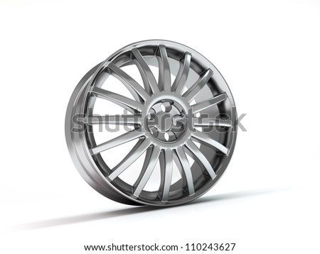 Car wheel high quality 3d render. - stock photo