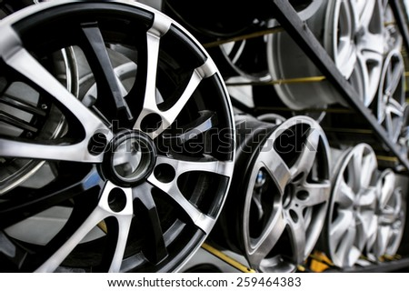 Car wheels - stock photo