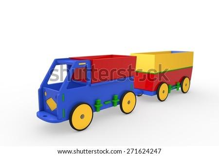 Car - Wooden Toys - stock photo