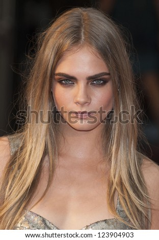 Cara Delevigne arriving the UK premiere of Anna Karenina at Odeon Leicester Square, London. 05/09/2012 Picture by: Alexandra Glen - stock photo