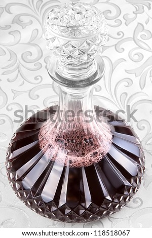 Carafe of red wine - stock photo