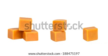 Caramel isolated on a white background  - stock photo