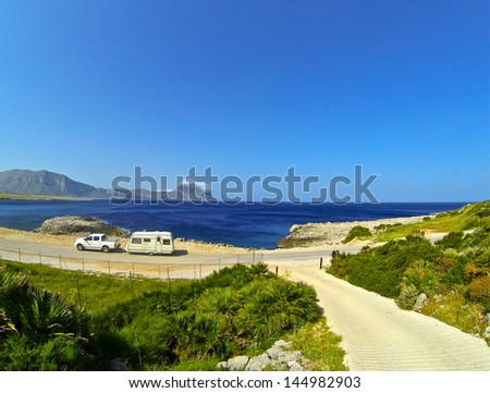 Caravan Travels - stock photo