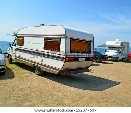 caravans  - stock photo