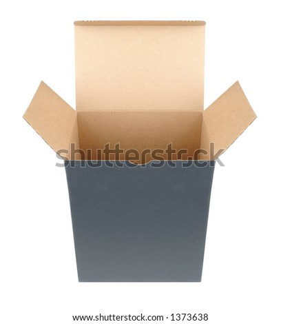carboard cube box - stock photo