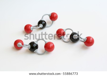 Carbon Dioxide Molecules - stock photo