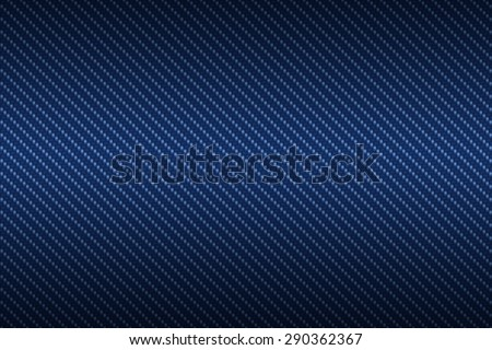 carbon kevlar texture background with blue - stock photo