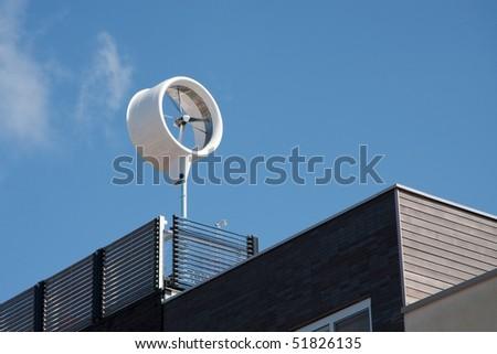 Carbon neutral house - stock photo