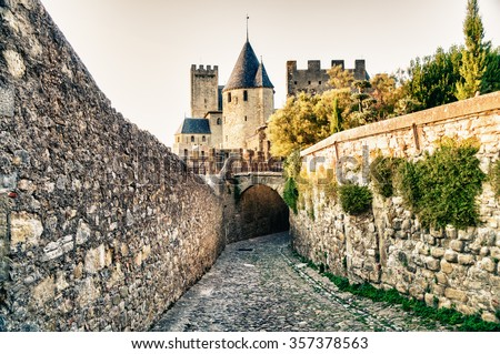Carcassonne in France - stock photo