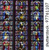 Carcassonne Stained Glasses - stock photo