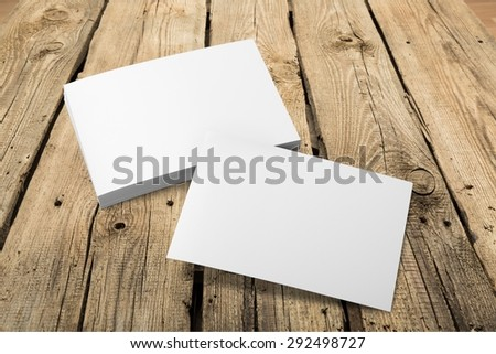 Card, business, blank. - stock photo