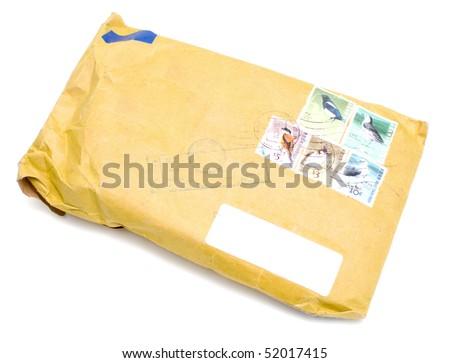 card envelope isolated on white - stock photo