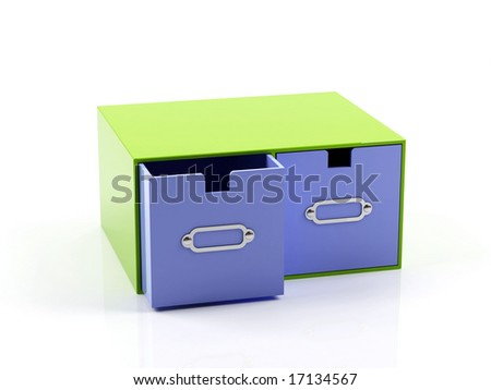 Card files isolated on white background - stock photo
