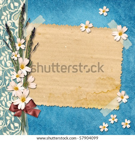 Card for congratulation on abstract background. - stock photo