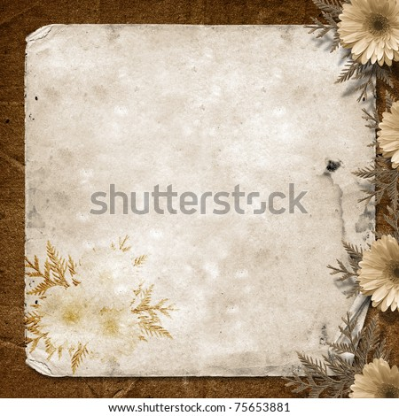Card for greeting or invitation on the vintage background. - stock photo