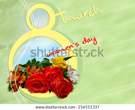 Card for Women's Day - stock photo