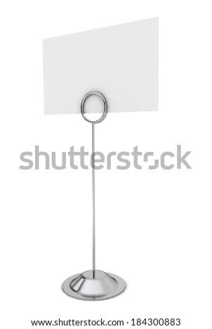 Card holder. 3d illustration on white background  - stock photo