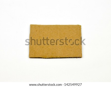 card with on white background - stock photo