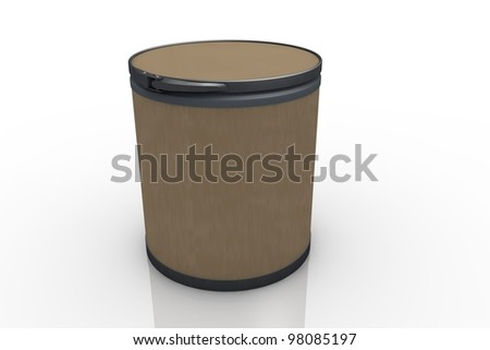 Cardboard barrel - stock photo