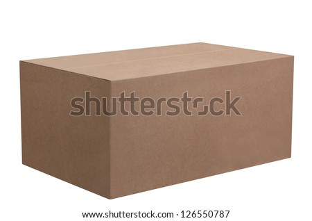 Cardboard box. - stock photo