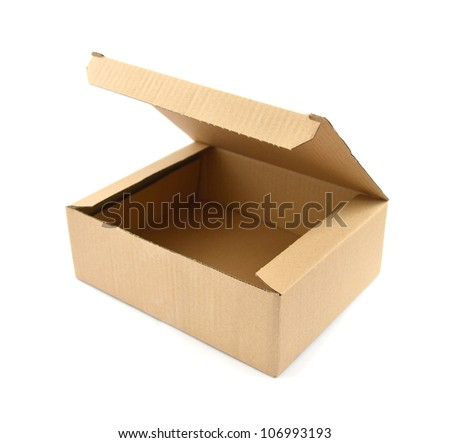 Cardboard box Clipping path included - stock photo