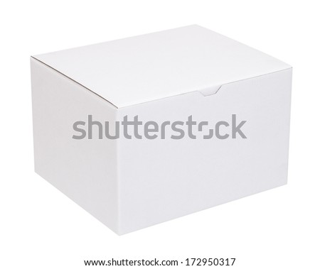 Cardboard box on a white background - stock photo